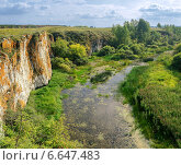 Купить «Устиновский каньон, Южный Урал», фото № 6647483, снято 12 июля 2020 г. (c) Зезелина Марина / Фотобанк Лори