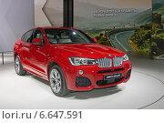 Купить «BMW X4 xDrive35i на ММАС 2014», фото № 6647591, снято 3 сентября 2014 г. (c) Алексей Назаров / Фотобанк Лори