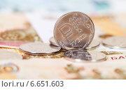 Купить «Российский рубль крупным планом», фото № 6651603, снято 17 марта 2019 г. (c) FotograFF / Фотобанк Лори