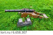 Старая пушка. Стоковое фото, фотограф Alexander Shadrin / Фотобанк Лори