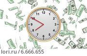 Время - деньги (падающие стодолларовые купюры) Стоковая анимация, видеограф Евгений Егоров / Фотобанк Лори