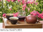 Набор для китайского чаепития. Стоковое фото, фотограф Владимир Вдовиченко / Фотобанк Лори