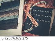 Купить «Cloth samples for custom made suits», фото № 6672275, снято 12 ноября 2014 г. (c) Andrejs Pidjass / Фотобанк Лори