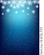 Купить «Абстрактный рождественский фон со снежинками», иллюстрация № 6672731 (c) Евгения Малахова / Фотобанк Лори