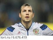 Футболист сборной России Артём Дзюба (2009 год). Редакционное фото, фотограф Alexander Nesterov / Фотобанк Лори