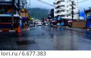 Утренняя дорога на Пхукете, таймлапс. Стоковое видео, видеограф Леван Каджая / Фотобанк Лори