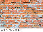Стена из красного кирпича. Стоковое фото, фотограф Елена Захарченко / Фотобанк Лори