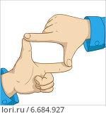 Купить «Рамка из пальцев», иллюстрация № 6684927 (c) Алексей Зайцев / Фотобанк Лори