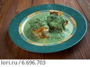 Купить «Merluza en salsa verde- жареная рыба с зеленым соусом», фото № 6696703, снято 11 ноября 2014 г. (c) Александр Fanfo / Фотобанк Лори