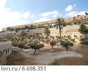 Купить «Вид на крепостную стену на Храмовой горе. Иерусалим, Израиль», фото № 6698351, снято 9 октября 2012 г. (c) Ирина Борсученко / Фотобанк Лори