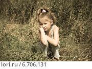 Маленькая девочка устала идти. Стоковое фото, фотограф Александр / Фотобанк Лори