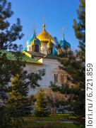 Новоспасский монастырь весной, Москва. Стоковое фото, фотограф Елена Уткина / Фотобанк Лори