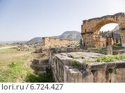 Купить «Иераполис, Турция. Античные руины в археологической зоне некрополя, II в. до н.э.  - XV в. н. э», фото № 6724427, снято 27 июня 2014 г. (c) Rokhin Valery / Фотобанк Лори
