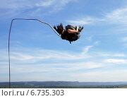 Прыжок с веревкой. Стоковое фото, фотограф Юлия Куксова / Фотобанк Лори