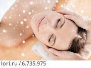 Купить «beautiful young woman in spa», фото № 6735975, снято 25 июля 2013 г. (c) Syda Productions / Фотобанк Лори