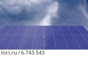 Солнечные батареи и бегущие облака. Стоковая анимация, видеограф Евгений Егоров / Фотобанк Лори