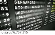 Купить «Black departures board showing delayed flights», видеоролик № 6757315, снято 25 июня 2019 г. (c) Wavebreak Media / Фотобанк Лори
