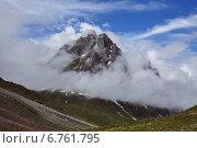 Горы в облаках. Стоковое фото, фотограф Дмитрий Ильин / Фотобанк Лори