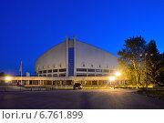Дворец спорта имени Ивана Ярыгина в Красноярске (2013 год). Стоковое фото, фотограф Михаил Зверев / Фотобанк Лори