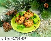 Купить «Мясные шарики к новогоднему столу», фото № 6769467, снято 21 декабря 2013 г. (c) ElenArt / Фотобанк Лори