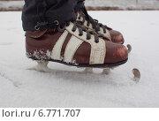 """Купить «Старые коньки """"Снегурки""""», фото № 6771707, снято 29 ноября 2014 г. (c) Ельцов Владимир / Фотобанк Лори"""