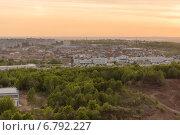 Вид на Хабаровск на закате (2014 год). Стоковое фото, фотограф Елена Абдураманова / Фотобанк Лори