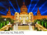 Купить «Национальный дворец, Барселона, Испания», фото № 6793975, снято 4 сентября 2014 г. (c) Vitas / Фотобанк Лори