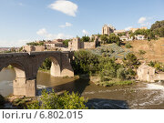Купить «Мост Святого Мартина через реку Тахо. Толедо. Испания.», фото № 6802015, снято 28 мая 2013 г. (c) Сергей Афанасьев / Фотобанк Лори