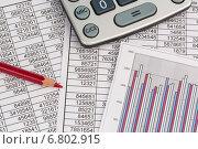 Купить «calculator and statistk», фото № 6802915, снято 18 января 2013 г. (c) Erwin Wodicka / Фотобанк Лори