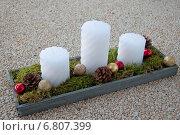 Рождественские свечи. Стоковое фото, фотограф Александра Орехова / Фотобанк Лори