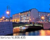 Купить «Фонарный мост. Санкт-Петербург», фото № 6808435, снято 16 декабря 2014 г. (c) Румянцева Наталия / Фотобанк Лори