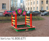 Купить «Детская площадка, оригинальная песочница», фото № 6808671, снято 14 ноября 2019 г. (c) Vladimir Sviridenko / Фотобанк Лори