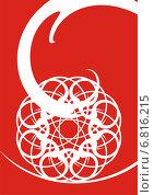 Снежинка. Стоковая иллюстрация, иллюстратор Микрюкова Елена / Фотобанк Лори
