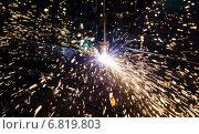 Плазменная резка металла. Стоковое фото, фотограф Sinemikhail / Фотобанк Лори