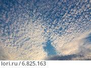 Купить «Перистые облака в синем небе», эксклюзивное фото № 6825163, снято 14 сентября 2014 г. (c) Сергей Лаврентьев / Фотобанк Лори
