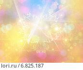 Светящийся разноцветный фон, боке и геометрические элементы. Стоковая иллюстрация, иллюстратор Анна Павлова / Фотобанк Лори