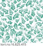 Купить «Бесшовный фон - зеленые лепестки», иллюстрация № 6825415 (c) Марина / Фотобанк Лори