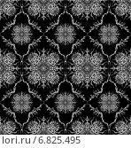 Купить «Бесшовный фон - черный витиеватый узор», иллюстрация № 6825495 (c) Марина / Фотобанк Лори