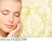 Купить «beautiful young woman touching her face», фото № 6825599, снято 8 мая 2010 г. (c) Syda Productions / Фотобанк Лори