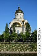 Купить «Униатская церковь в Астане», фото № 6829827, снято 20 июня 2014 г. (c) Вячеслав Евсеев / Фотобанк Лори