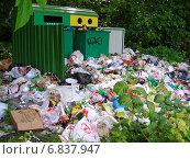 Купить «Свалка мусора в заповеднике Лосиный остров», эксклюзивное фото № 6837947, снято 21 июля 2012 г. (c) lana1501 / Фотобанк Лори