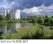 Купить «Бабаевский пруд в Москве летом», эксклюзивное фото № 6838367, снято 18 июля 2012 г. (c) lana1501 / Фотобанк Лори