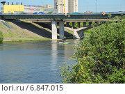 Купить «Спасские мосты через Москву-реку на МКАД», эксклюзивное фото № 6847015, снято 21 мая 2014 г. (c) Алёшина Оксана / Фотобанк Лори