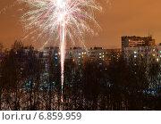 Купить «Район Гольяново празднует Новый год», эксклюзивное фото № 6859959, снято 1 января 2015 г. (c) lana1501 / Фотобанк Лори