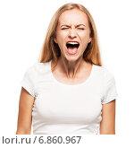 Купить «Screaming woman», фото № 6860967, снято 23 апреля 2013 г. (c) Гладских Татьяна / Фотобанк Лори