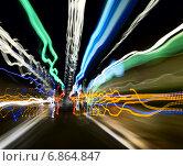 Купить «Следы огней машины на шоссе», фото № 6864847, снято 10 мая 2012 г. (c) Максим Блинков / Фотобанк Лори