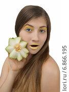 Цветок из дыни. Стоковое фото, фотограф Смирнова Лидия / Фотобанк Лори
