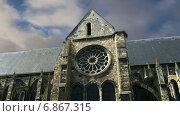 Купить «Средневековый район города Тур, Франция», видеоролик № 6867315, снято 5 января 2015 г. (c) Владимир Журавлев / Фотобанк Лори
