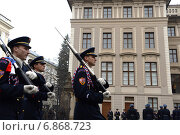 Купить «Прага. Торжественная смена почетного караула», фото № 6868723, снято 28 ноября 2012 г. (c) Free Wind / Фотобанк Лори