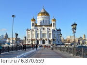 Купить «Храм Христа Спасителя в Москве зимой», эксклюзивное фото № 6870659, снято 6 января 2015 г. (c) lana1501 / Фотобанк Лори
